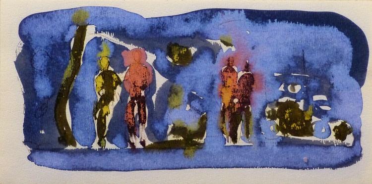 On the Cezanne Island #20, 40x20 cm - Image 0