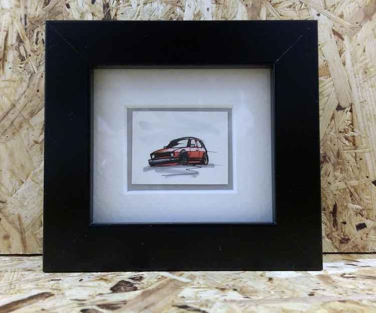 Retro VW Golf Car (028) -