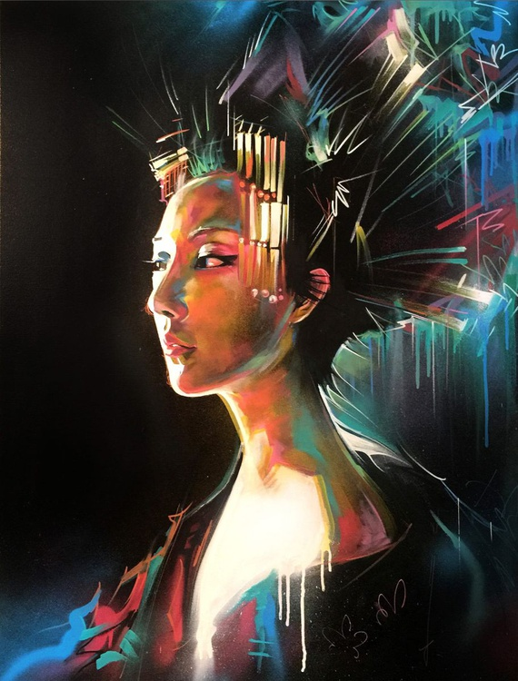 'Queen Of Lights' - Original painting on canvas - Image 0