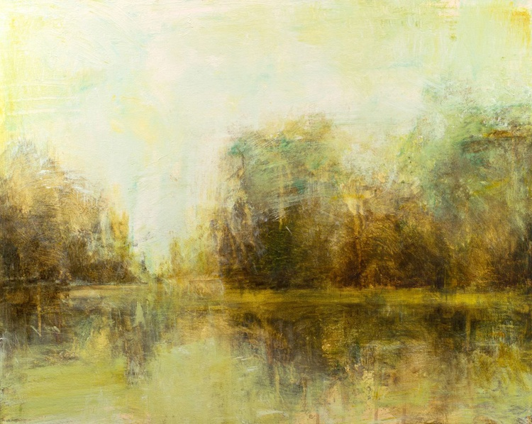 Reflections Of The Pond 24x30 inches - Image 0