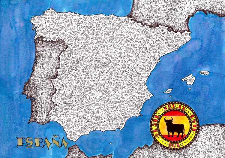 Spain Word Map -