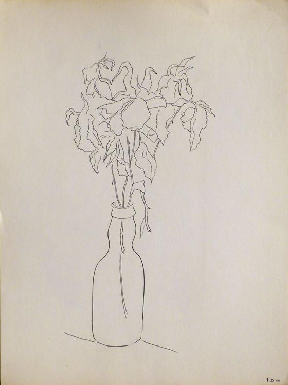 Still Life: The Vase of Flowers, 24x32 cm - Image 0