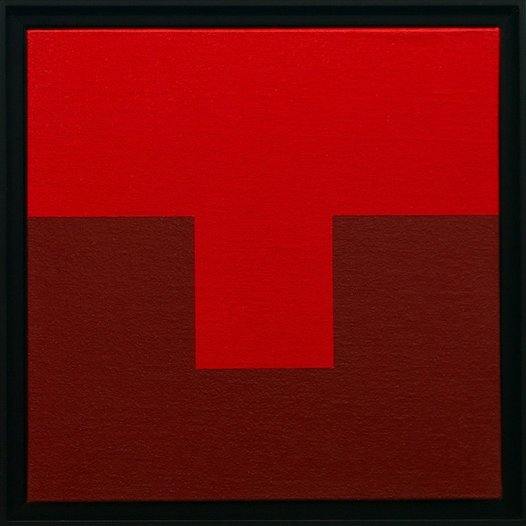 LE ROUGE - Framed Modern / Minimal Painting - Image 0
