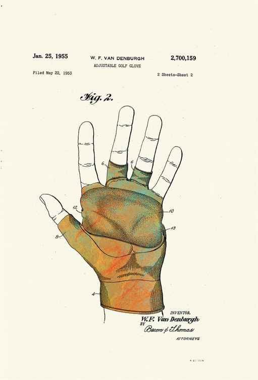 Adjustable Golf Glove - Patented 1955