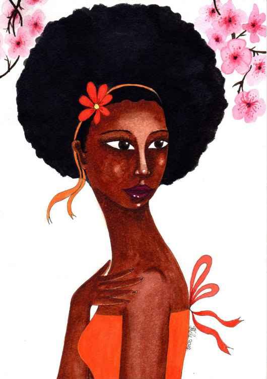 Cherry Blossoms Original Watercolor Art -