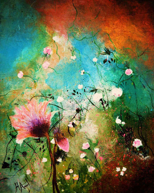 """Abstract floral """"Strangely beautiful"""" - Image 0"""