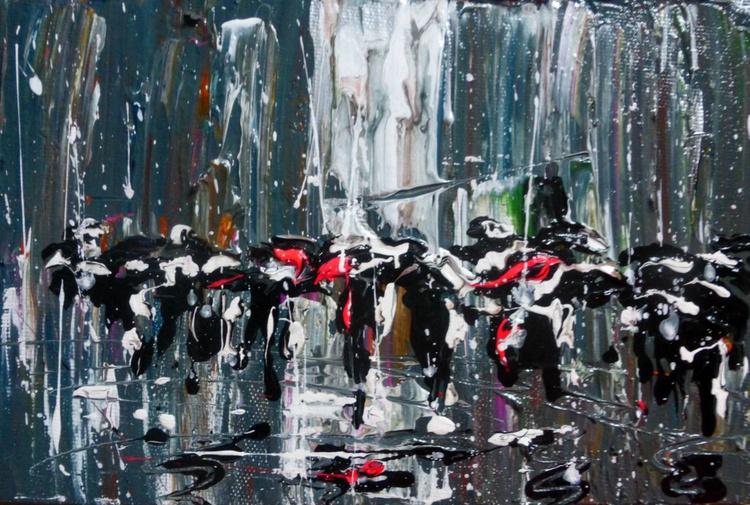 Rain in city, 30x20 cm - Image 0