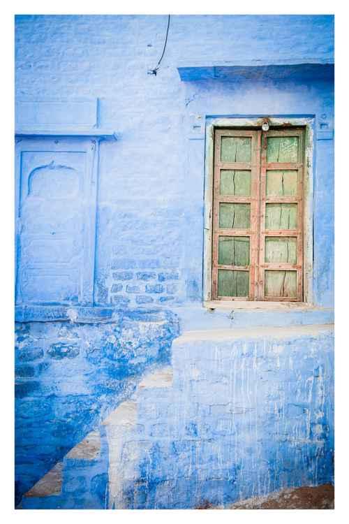 The Blue City, Jodhpur, India. -