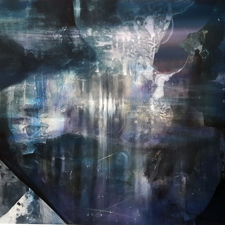 I SHARE SERENITY IN THE 8TH DAY OF LONELINESS FANTASTIC LARGE DREAMSCAPE MASTERPIECE BY OVIDIU KLOSKA - Image 0
