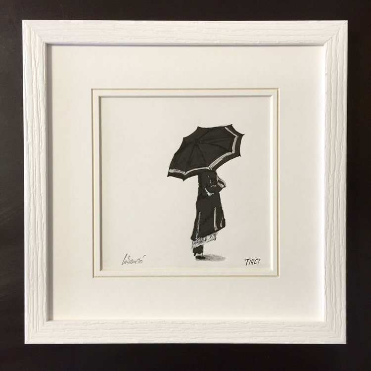 Framed - Girl with umbrella - Image 0