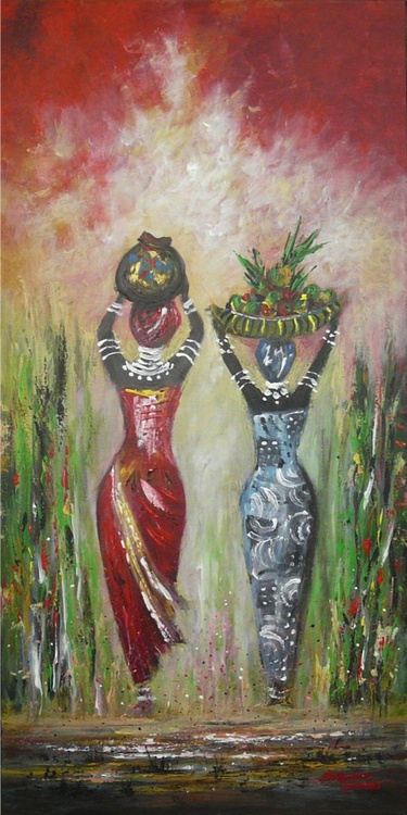 Friends Forever  (African Tribal, Large, 50x100cm) - Image 0