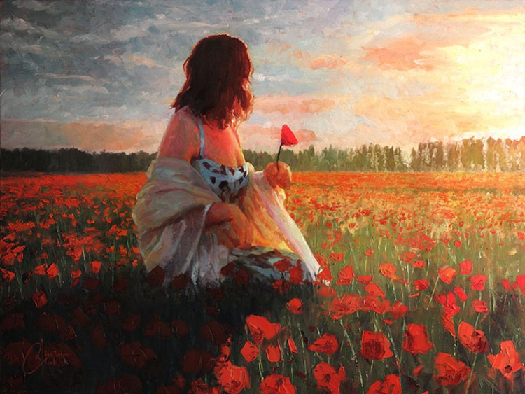 Love in a Field of Poppies - Image 0