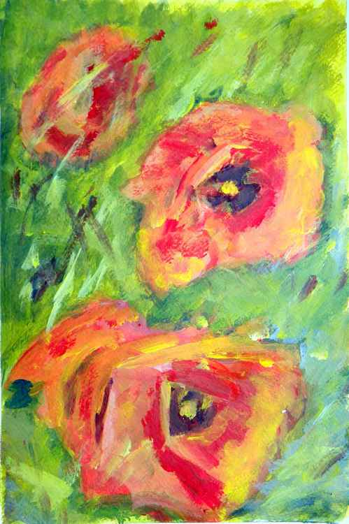 Just be you #3 (poppies) -