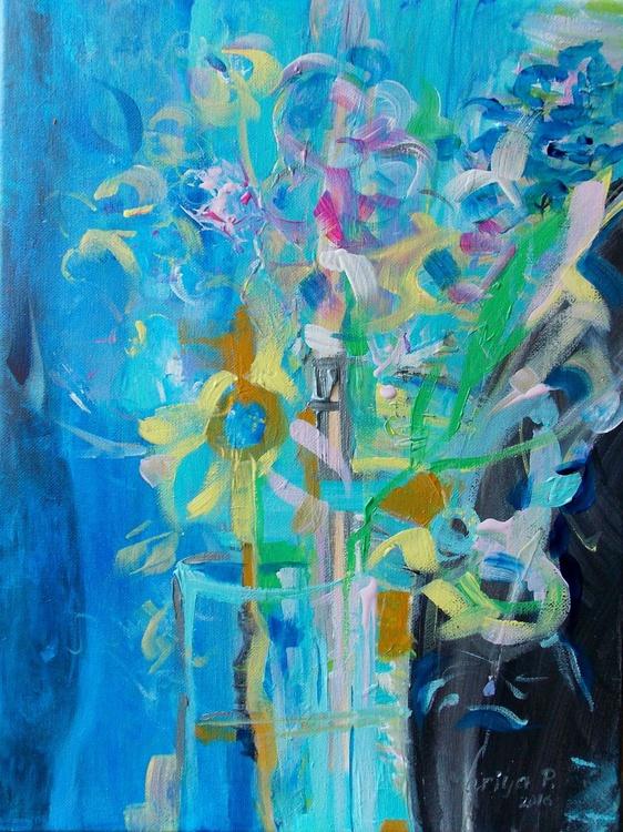 """""""Floral scent I"""" -  40 x 30 cm. - Image 0"""