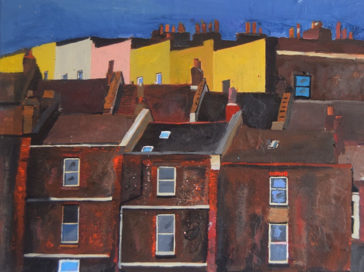 Bristol, Coloured Houses from the River - Image 0