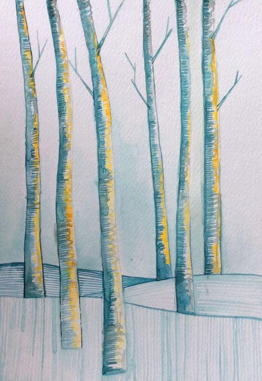 Watercolour - Stillness of Trees no.2 - Image 0