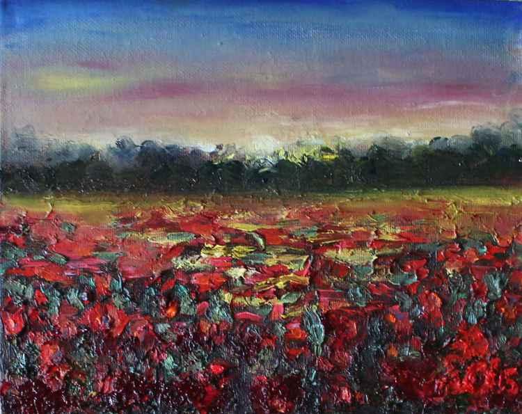 "Poppy's Sunset2 8""x10"" (20.32x25.4cm)"