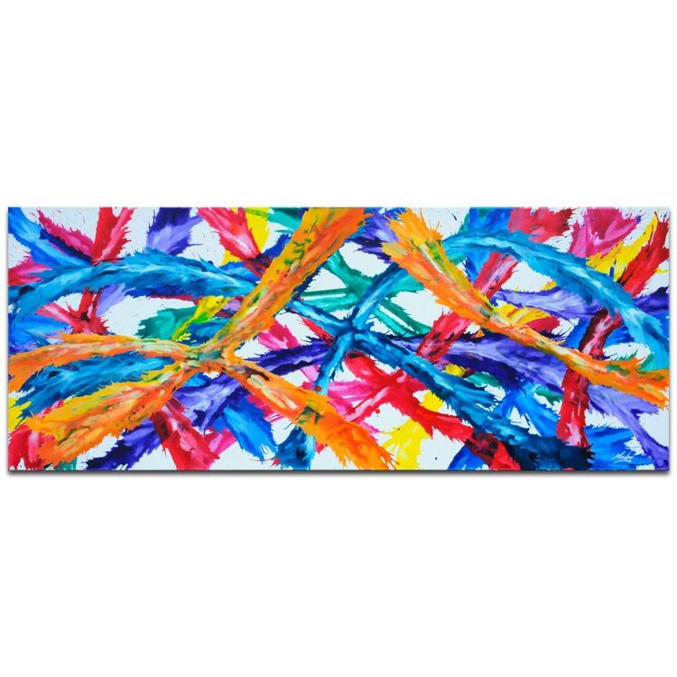 Mendo Vasilevski 'Infinite Colors' Contemporary Acrylic Wall Art Giclee - Image 0