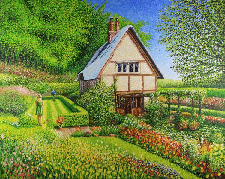 Spring Bowls & Tulips at Little Larford Cottage - Image 0