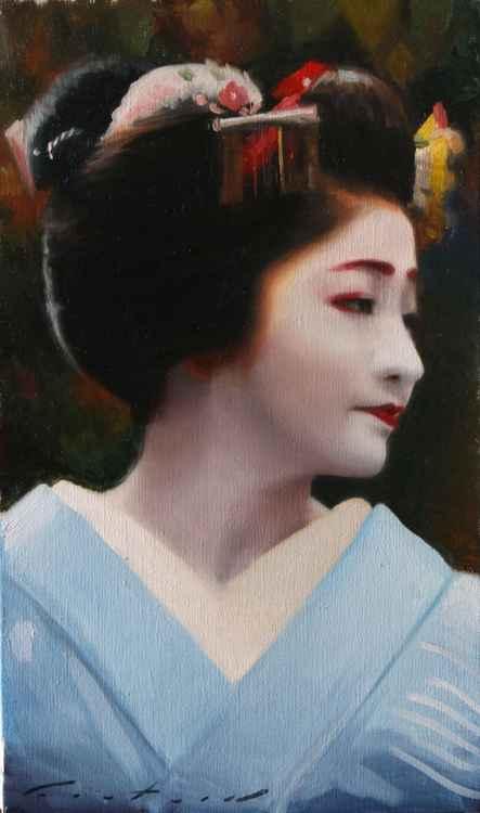 Portrait of Satsuki - japanese geisha maiko -