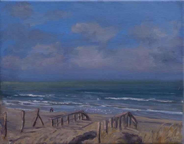 A Sunny winters seascape -