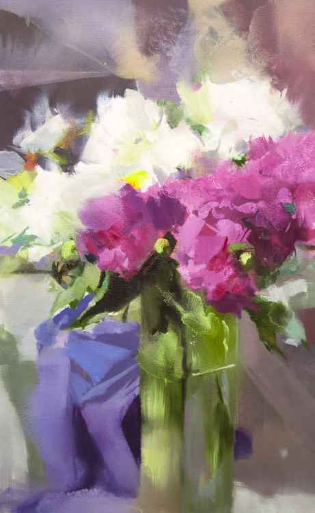 "Contemporary Still Life Painting ""Peonies in the Sun"" -"