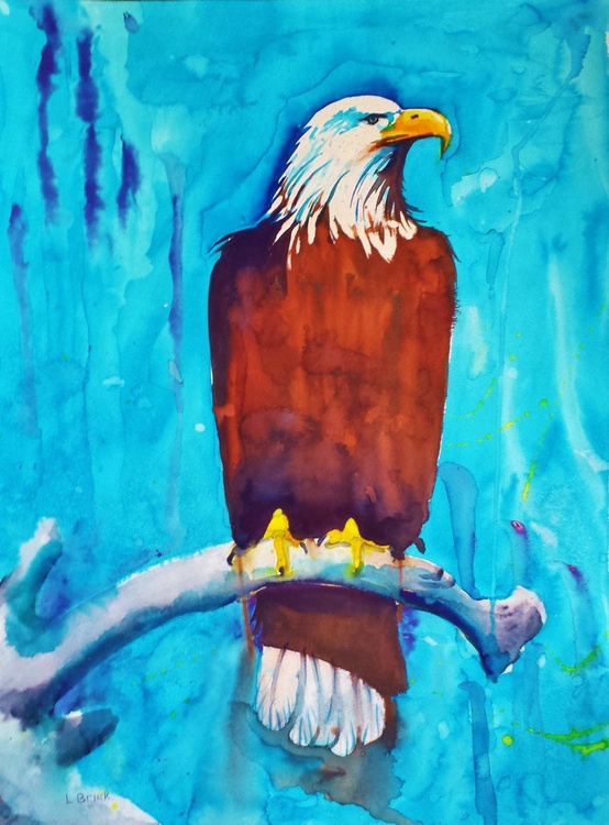 """Watercolor Eagle """"His Majesty"""" - Image 0"""