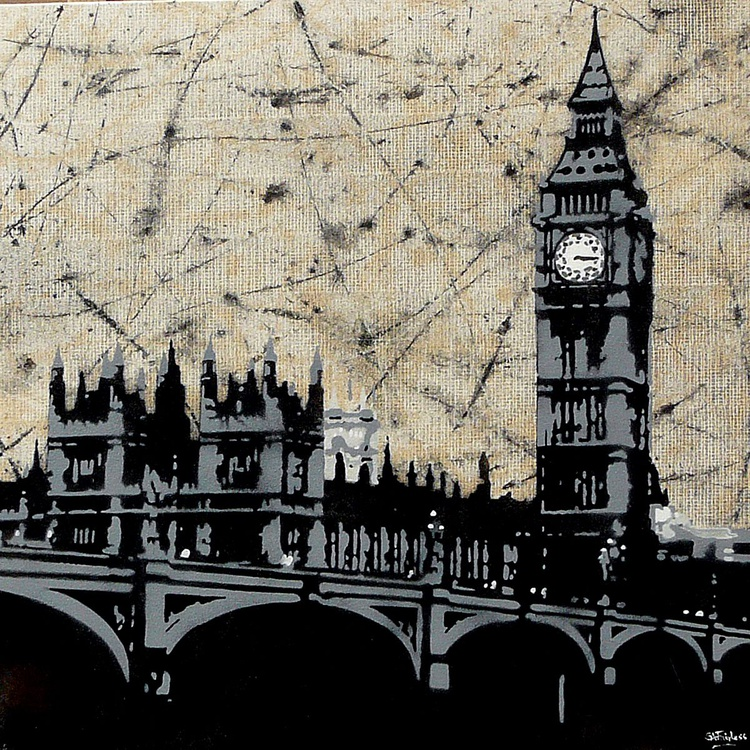 Westminster over Abtract - Image 0