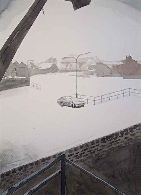 Car in the Snow -