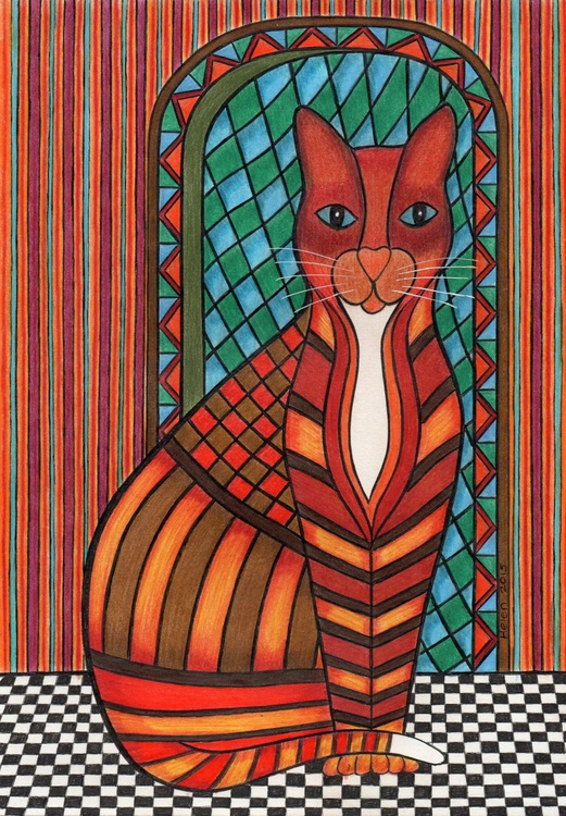 'Patchwork Kitty Cat - Charla' - Image 0