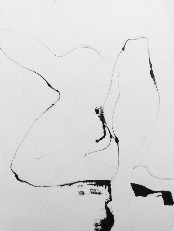 (nude study in ink) - Image 0