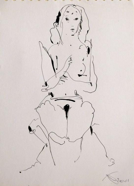 Surrealistic Nude, 21x29 cm - Image 0
