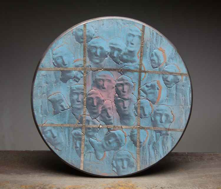 "Ceramic wall plate ""Humans"" -"
