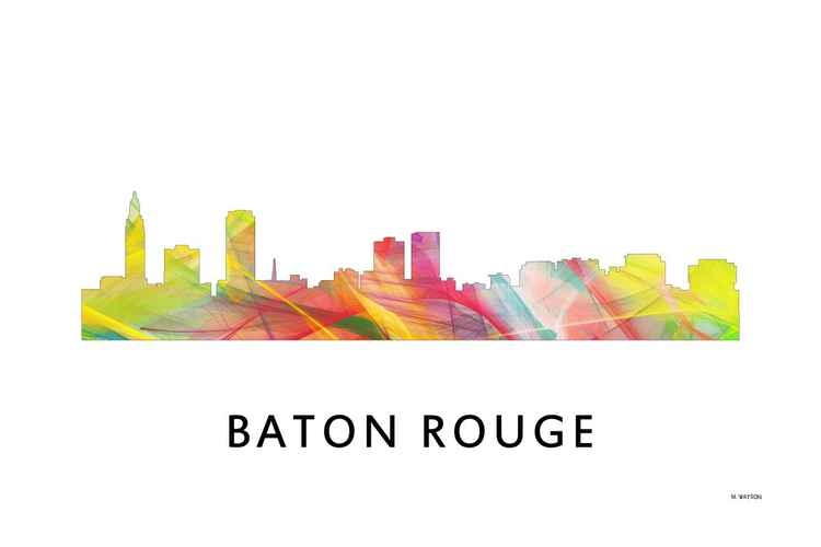 Baton Rouge Louisiana Skyline WB1 -
