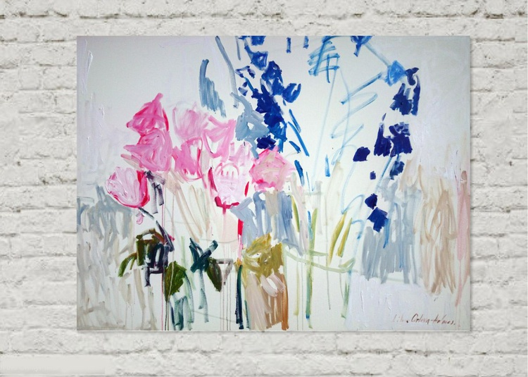 Fresh flowers. 36x48inch. - Image 0