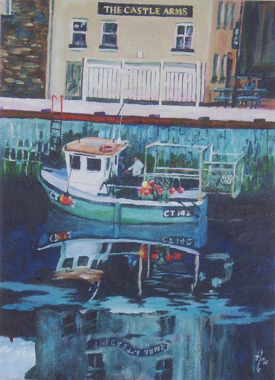 Lobster Boat at The Glue Pot Pub, Castletown - Isle of Man - Image 0