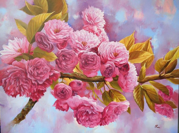 Spring Day/Original oil on canvas/Free Shipping - Image 0