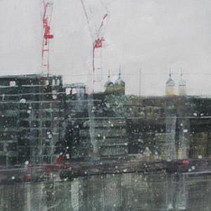 Near the Tower (with cranes) by Julian Sutherland-Beatson