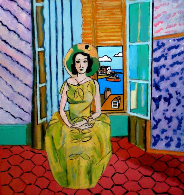 The Yellow dress, St Ives. (after Matisse)