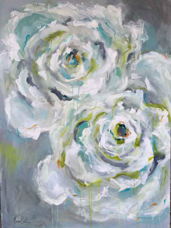 Two White Roses -