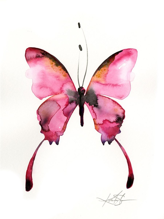 Watercolor Butterfly 4 - Abstract Butterfly Watercolor Painting - Image 0